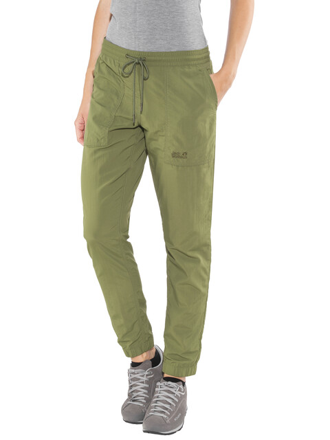 Jack Wolfskin Kalahari Cuffed Pants Women woodland green
